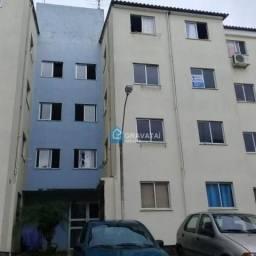 Apartamento com 2 dormitórios para alugar, 45 m² por R$ 560,00/mês - Dona Mercedes - Grava