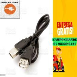 Cabo USB macho X USB fêmea - Entrega Grátis e Rápida via Motoboy R$ 20,00