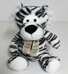 Bicho de Pelúcia Tigre Branco 23cm