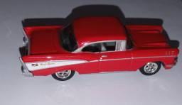 Miniatura carros 1957 chevy bel air -johnny lighiting -1/64 usada