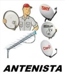 Faço apontamento de antena e instalação de receptores da Claro, Oi Sky, GVT e outros