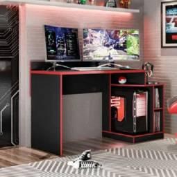 Mesa Gamer preto e vermelho ultima unidade