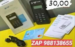 Maquininha cartão de crédito e débito 30,00 promoção