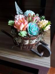 Flores de sabonete artesanal