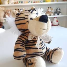 Bicho de Pelúcia Tigre Amarelo 23cm