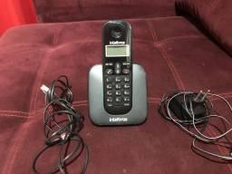 Telefone sem fio intelbras completo