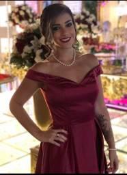 Lindo vestido vermelho de Festa (Madrinhas, Demoiselle.)