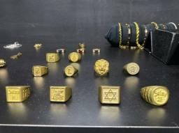 Anéis feito de moedas antigas