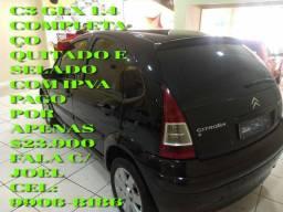 CARRO COMPLETAÇO C3 GLX QUITADO E SELADO COM IPVA PAGO