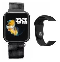 Smartwatch relógio inteligente P70 + 1 pulseira brinde