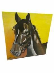 Quadro de um cavalo a tinta oleo sobre tela