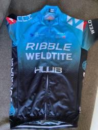 Camisa de ciclismo tamanho P