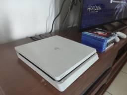 PS4 Slim Branco 1 TB - Troco por Nintendo Switch