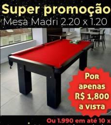 Super Promoção Mesa de sinuca 2.20 x 1.20 Direto de Fabrica