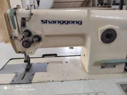 Máquina de costura industrial 2 agulhas