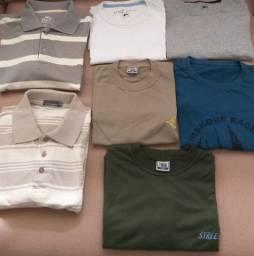 Lote com 7 Camisas Masculinas Polo  Camisetas
