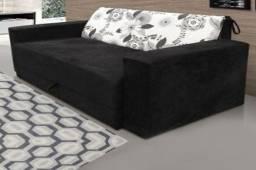 Sofa-Cama Suéde Entrega Imediata