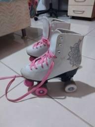 Vendo patins com bolsa de transporte