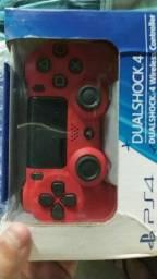 Controle PS4   Sony vermelho e/ou branco original  sem fio