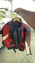 Jaqueta motociclista r1 original 100% couro