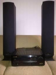 Receiver Marantz e caixas acústicas Philips para home theater