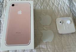 iPhone 7 32GB Rose Gold em perfeito estado