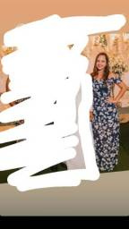 Vestido longo florido - tamanho P