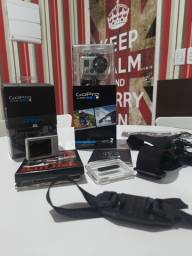 Título do anúncio: GoPro HERO2 com vários acessórios