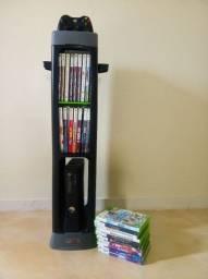 Xbox 360 bloqueado com 27 jogos + 2 controles + Kinect