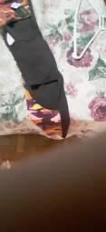 Calça p malhação estampada c abertura nas pernas