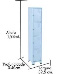 roupeiro aço usado 4 portas 490,00