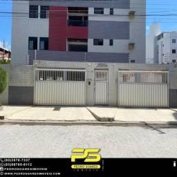 Apartamento com 2 dormitórios para alugar, 69 m² por R$ 1.500/mês - Intermares - Cabedelo/
