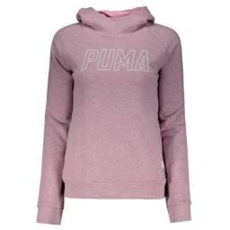 Vendo Moletom Puma Athletics Feminino Rosa Original. Obs; Leia a Descrição.