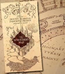 Mapa Do Maroto Hp + Marcador de Página(eu Juro Solenemente Não Fazer Nada De Bom)