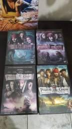 Dvd's Piratas do Caribe 01 ao 04