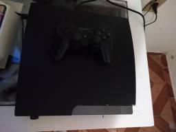 PS3 Slim 160 GB Destravado com um controle