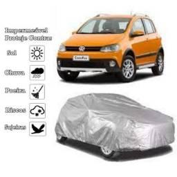 capa carro hb20 prisma gol sandero palio impermeável protege sol chuva poeira P M g<br>Weis