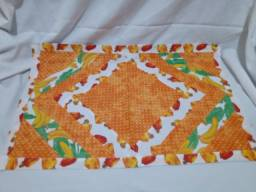 kit com 03 Tapetes de Patchwork 100% algodão-estampas variadas