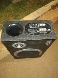 Caixa de som amplificada e 2 par de 6/9 $350