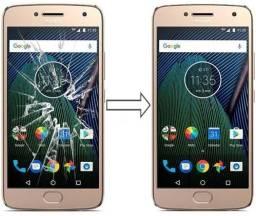 Vidro da Tela para Moto G5 Plus , Mantenha a Originalidade do seu Estimado Celular!