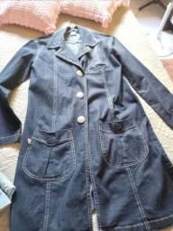 Vestido jens tamanho p é camisa jeans tamanho m usados