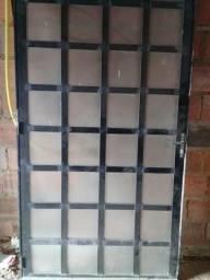 Porta de alumínio 1.10 por 2.10 altura