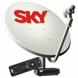 Vendo ou troco Antena SKY pré-pago