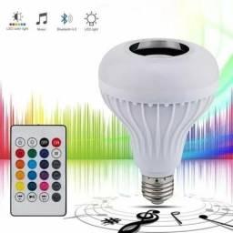 Lâmpada LED com música Bluetooth inova, você escolhe a cor e a música que toca