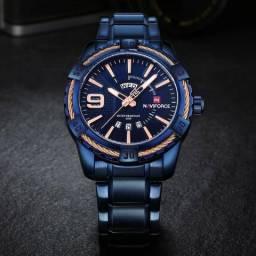 Relógio Naviforce 9117 Militar Esportivo Original