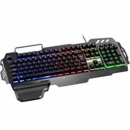 Teclado Semi Mecânico RGB + Mouse Gamer Multilaser