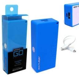 Bateria Portátil Externa Power Bank 4000mAh CB097 Smartogo Multilaser Usb Celular Tablet