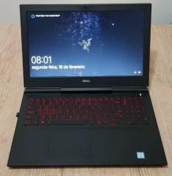 Notebook Dell 7567 Gamer, i7, 16gb RAM, gtx 1050 ti, SSD 240 GB m.2, HD de 1 TB, full HD