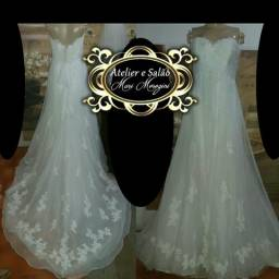 Alugo vestido de noiva 300.00 incluso Sapato,véu e buquê