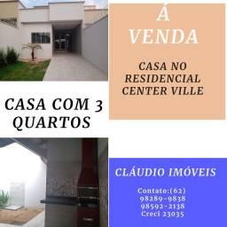 Vendo casa no residencial center ville/ 3 quartos